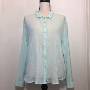 AERIE Cotton Long Sleeve Shirt